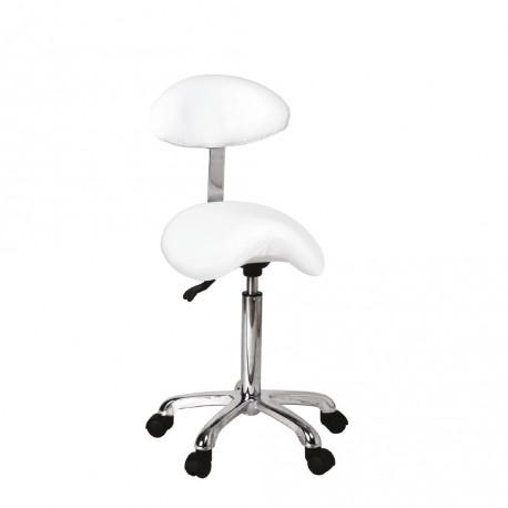 acheter pas cher 4147e ba9d4 Tabouret selle ergonomique avec dossier blanc