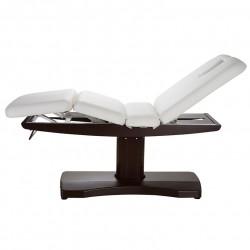 TABLE DE SOIN 3 MOTEURS PIED CENTRAL COULEUR WENGHE