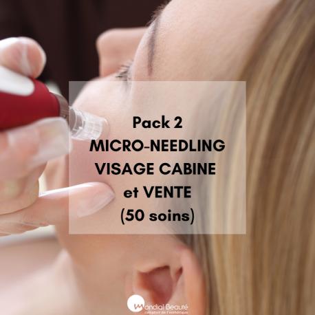 Pack 2  MICRO-NEEDLING VISAGE CABINE + VENTE